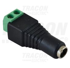 Jack/csavaros csatlakozó hüvely LED szerelésekhez 5,5 mm