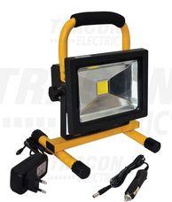 Hordozható akkumulátoros LED fényvető 20W, 4500K, IP65,