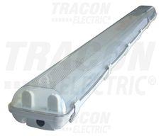 Védett lámpatest LED csövekhez, egyoldalas betáp 230 V,