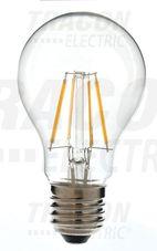 COG LED gömb fényforrás, átlátszó bura 230 VAC, 6 W, 2
